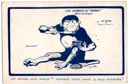 """PUBLICITE.  LES ANIMAUX De  """" GIBBS """"  LE SINGE. ILLUSTRATEUR BENJAMIN RABIER. - Publicité"""