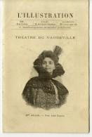 ME REJANE THEATRE DE VAUDEVILLE   DEPLIANT DE L ILLUSTRATION  2 VOLETS - Theatre