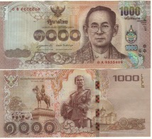 THAILAND  New  1'000 Baht    2015  UNC - Tailandia