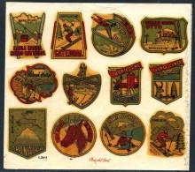 ARGENTINA - BARILOCHE - Esquí / Skiing - Cable Carril / Catedral / Nahuel Huapi / Cerro Otto / Llao-Llao / Huemuel - Documentos Antiguos