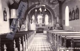 CPA PHOTO - 55 - SAINT-JEAN-LES-BUZY (Meuse) - Intérieur De L'église Légende écrite à La Plume - CARTE RARE - France