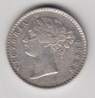 @Y@    Brittisch India   2 Annas  1841  WW Raised   Argent  (3043) - Inde