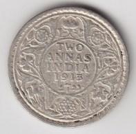@Y@    Brittisch India   2 Annas  1913    Argent  (3045) - Inde