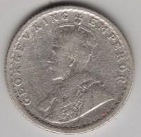 @Y@    Brittisch India   1/4  Rupee  1916   Argent  (3046) - Inde