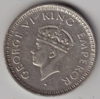 @Y@    Brittisch India   1/4  Rupee  1943   Argent  (3047) - Inde
