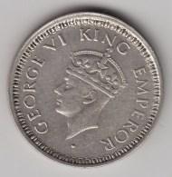 @Y@    Brittisch India   1/4  Rupee  1945   Argent  (3049) - Inde