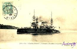 AC 28  /     C P A    LE CHARLE MARTEL CUIRASSE D'ESCADRE A TOURELLES - Warships