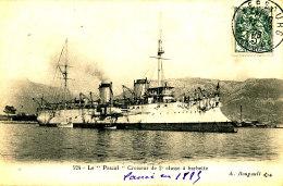 AC 39  /     C P A   - LE PASCAL CROISEUR DE 2eme CLASSEA BARBETTES - Guerre