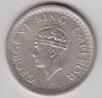 @Y@    Brittisch India   1/2  Rupee  1944   Argent  (3050) - Inde