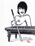 CPM Sport Jeu Billard Français Billiard Eros Erotisme Nu Nude Femme (3/4) Tirage Limité JIHEL / LARDIE - Lardie