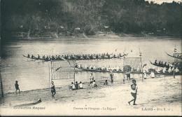 CPA  LAOS  COURSES DE PIROGUES LE DEPART - Laos