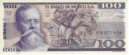 MEXICO 100 PESOS 1982 P-74c UNC SERIE UX [ MX074c ] - Mexico