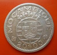 Portugal Moçambique 20 Escudos 1952 Silver