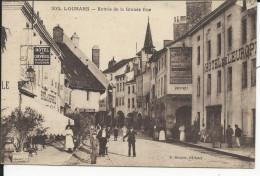 Louhans    ENTR2E DE LA Grande Rue   Avec Hotel Du Chevreuil Et   De L'Europe( Bon Etat) - Louhans