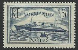 "YT 299 "" Paquebot Normandie Bleu "" 1936  Neuf ** - France"