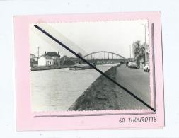 Photo Collée Sur Dépliant - Thourotte  - Pont Péniche (Distribué Par Le Fontenoy Café-Tabac - 60 Thourotte ) - Thourotte