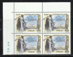 ITALIA REPUBBLICA ITALY REPUBLIC 2000 OPERA LIRICA TOSCA DI GIACOMO PUCCINI QUARTINA VALORE IN € VALUE BLOCK MNH - 1991-00: Neufs