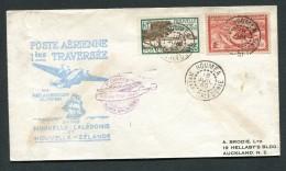 NOUVELLE CALEDONIE- Enveloppe De La 1ère Traversée Par Pan American Clipper- Nelle Calédonie- Nelle Zélande - Briefe U. Dokumente