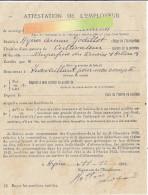 ATTESTATION DE L'EMPLOYEUR  -HYERES 83-  1943   CULTIVATEUR - Vieux Papiers