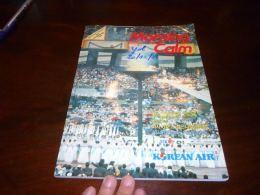 CB11 Livre De Bord Morning Calm Korean Air 1986 Nombreuses Publicités - Vluchtmagazines