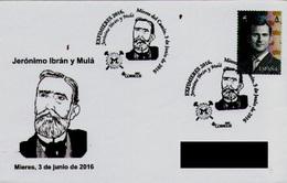 SPAIN. POSTMARK JERONIMO IBRAN Y MULA. MINING. MIERES. 2016 - Marcofilie - EMA (Print Machine)