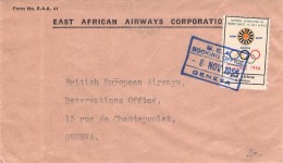 EAST AFRICAN AIRWAYS - INTERESTING COVER GENEVE 1955 - Stamps