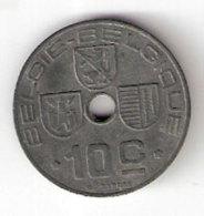 Pièce Belgique. 10 Cts. 1944 - 02. 10 Centimes
