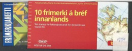 1994 MNH Iceland, Island, Booklets, Sport, Postfris - Cuadernillos/libretas