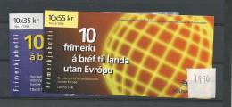 1996 MNH Iceland, Island, Booklets Europa, Postfris - Cuadernillos/libretas