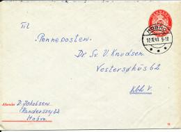 Denmark Postal Stationery Cover 20 öre Red With Nice Postmark Hobro 12-11-1949 - Enteros Postales