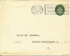 Denmark Postal Stationery Cover 10 öre Green Copenhagen 13-6-1925 - Entiers Postaux
