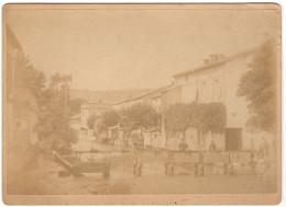 52 POISSONS - SUPERBE PHOTO ANCIENNE - Avant 1900 Le Rongeant Vue Du Grand Pont Et Les Vannes -  Haute Marne - Poissons