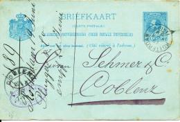 Netherlands Postal Stationery Sent To Germany Rotterdam 19-6-1889 - Postal Stationery