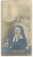 """IMAGE PIEUSE HOLY CARD SANTINI Type Photo Pourtour Dorure  : """" Portrait Authentique Sainte Bernadette Priez Pour Nous  """" - Images Religieuses"""