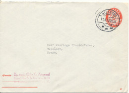 Denmark Postal Stationery Cover 20 öre Red Sent To Norway Hilleröd 11-8-1947 - Entiers Postaux