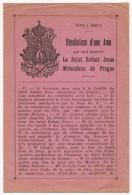 """IMAGE PIEUSE HOLY CARD SANTINI  : """" Résolutions D'une Âme Qui Veut Honorer Le Saint Enfant Jésus Miraculeux De Prague  """" - Images Religieuses"""