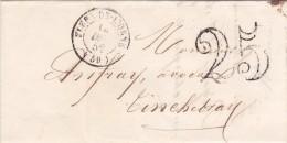 321  -  LETTRE  - LSC -  14.12.52  -  FLERS DE L'ORNE  -    TINCHEBRAY - 1849-1876: Periodo Clásico