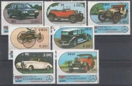 Voitures Kampuchea 1986 OBLITÉRÈS / USED / GEST. - Automobili