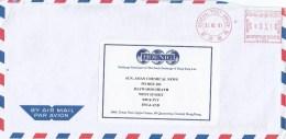 """Hong Kong 2001 GPO Neopost """"Electronic"""" N4808 Meter Franking Cover - 1997-... Speciale Bestuurlijke Regio Van China"""
