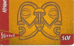 CARTE PREPAYEE-KERTEL-50F-AFRIQUE-MASQUES-TBE - Prepaid-Telefonkarten: Andere