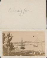 Finlande, Helsinki, Vue Sur Le Port, (helsingfors) Vintage CDV Albumen Carte De Visite,   CDV, Tirage Albuminé, - Photos