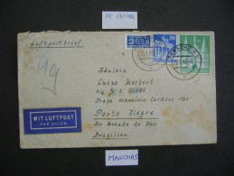 GERMANY -LETTER  SENT FROM REMSCHEID LETTER TO PORTO ALEGRE (BRAZIL) IN 1949 AS - Lettres & Documents