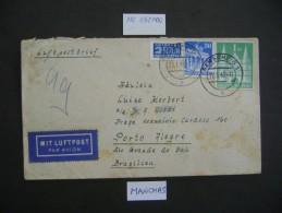 GERMANY -LETTER  SENT FROM REMSCHEID LETTER TO PORTO ALEGRE (BRAZIL) IN 1949 AS - [6] Repubblica Democratica
