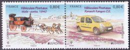 France N° 4749 P ** Europa 2013 - Les Véhicules Postaux, 4749 Malle-poste 1840 & 4750 Renault Kangoo ZE - Ungebraucht