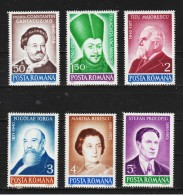 1990 -  Personnalites Roumaines Mi No 4629/4634 Et Yv No 3904/3908+3894 MNH - 1948-.... Republiken