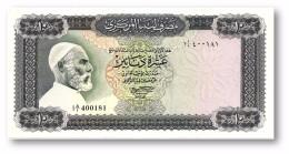 LIBYA - 10 Dinars - (1971 ) Without Inscription - P 37.a - AUnc. - Sign. 1 - Serie I A/1 ( 192 X 95 ) Mm - 2 Scans - Libya