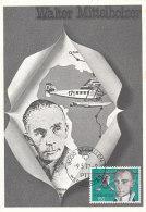 D25409 CARTE MAXIMUM CARD 1977 SWITZERLAND - MITTELHOLZER AIPLANE CP ORIGINAL - Maximum Cards