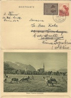 1953- Briefkarte  20 R.  + Compl.  20 R   Avec Vue   Pour La France - Stamped Stationery