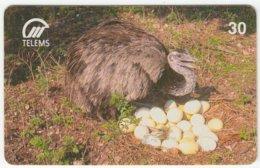 BRASIL B-813 Magnetic Telems - Animal, Bird, Emu - Used - Brésil
