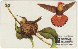 BRASIL B-837 Magnetic Telebras - Animal, Bird, Colibri - Used - Brésil